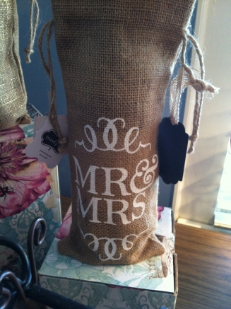 Burlap wine bag - $9.95